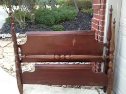 how to make a bench from an old headboard footboard snapguide