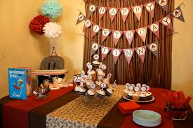 Sock Monkey Themed First Birthday Party Ideas Decorations