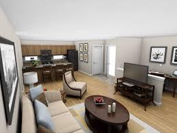 100 One Bedroom Interior Design Perspective Living Room 1BR Net Zero Village