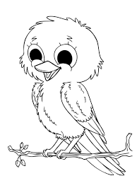 Pictures Baby Sparrow Birds Coloring Pages