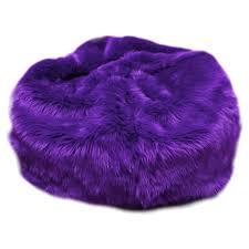 Fuzzy Fur Purple Bean Bag Chair