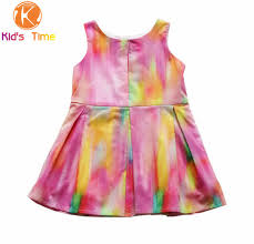 New Design 2016 Summer Brand Girl Dress Baby Girls Vest Rainbow Patchwork Dresses Kids Casual Cotton
