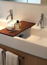 Two Faucet Trough Bathroom Sink by Enjoyable Trough Sink Bathroom Double Trough Sink With 2 Faucets