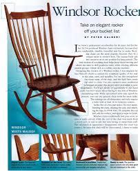 Windsor Rocking Chair Plans • WoodArchivist