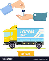 Hand Passing Key Process Of Buying Renting Truck Vector Image