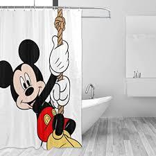 blackbiubiubiu mickey mouse minnie duschvorhang 152 4 x 183 9 cm bedruckt wasserdicht badezimmer