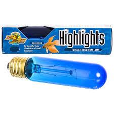 zoo med zoo med aquatic highlights tubular aquarium l blue
