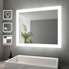 details zu sonni badspiegel mit led beleuchtung wandspiegel badezimmerspiegel 60x50cm