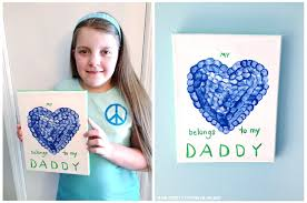 Kids Craft Ideas Fathers Day Gifts Made From Canvas Art Thumbprint