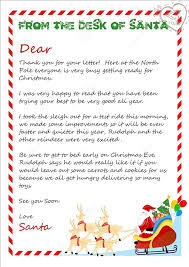 3 Piece Printable Christmas Letter From Santa