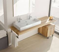 Duravit Vero Basin 600 by Lately I U0027ve Been Seeing Trough Sinks Pop Up In Bathrooms And I