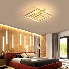 rabatt erhalten braun gold moderne led decke lichter platz