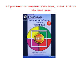 Download Longman Introductory Course For The TOEFL Test IBT Student