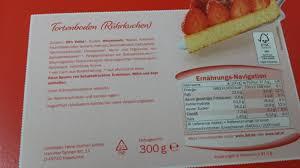 confiserie firenze lidl rührteigboden kalorien nährwerte