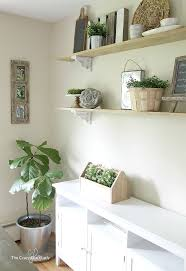 Easy and Inexpensive Farmhouse Kitchen Shelves No Saws Required