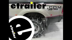 100 Snow Chains For Trucks Titan Chain Dual Tire Review Etrailercom YouTube