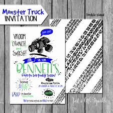Monster Truck Invitation Truck Invites Monster Truck Party | Etsy Monster Contruck Invitation Invite Pics Of Truck Fresh Birthday Invitations Personalized Invitation Boy By Uprint Etsy Party Ideas At In A Box 50 Off Sale 2nd Svg And Printable Clipart To Make Nice 94 In Design With Frozen Elsa Anna Trucks Food Jam Supplies Monster Truck Birthday Truck Birthday Party Invites Tonys 6th Bday