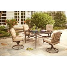 Home Depot Outdoor Dining Chair Cushions by Hampton Bay Eastham 5 Piece Patio Dining Set With Beige Cushions