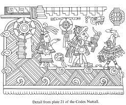 Ancient Mexican Designs Coloring Sheets
