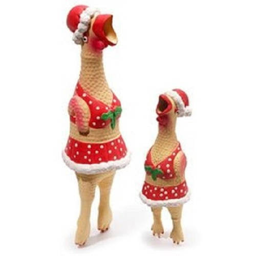 Charming Pet Products Christmas Henrietta Chicken - Small