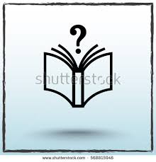 Book With Question Mark Sign Icon Vector Illustration Flat Design Style