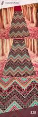 chevron tribal print maxi colorful and flattering tribal chevron
