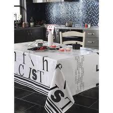 nappe en toile cirée rectangulaire 140x250 cm chef cuisto gris