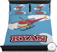 Transportation Toddler Bedding by Helicopter Duvet Cover Set Personalized Potty Training Concepts