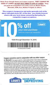 Free Lowes Printable Coupons 2018