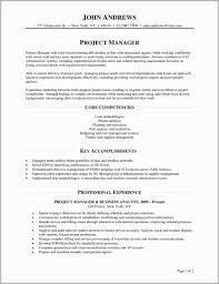 100 Core Competencies Resume Examples Project Manager Management Of