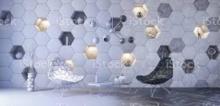 konzept der modernen innenarchitektur futuristisches wohnzimmer 3d render stockfoto und mehr bilder abstrakt