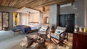 Safari Themed Living Room by Andbeyond Matetsi River Lodge Zimbabwe