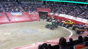 100 Monster Trucks Denver Grave Digger Freestyle Rollover Jam Pepsi Center 2013
