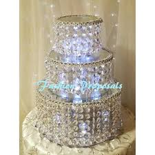 Wedding Cake Stand Crystal Triple Tier 3 The Vase And 2 Separators Amazon Uk Stands