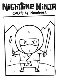 Nighttime Ninja Coloring Page Japanese Culture For Kids