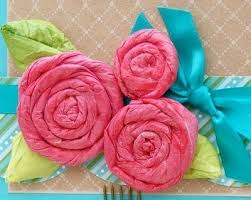 Arts And Crafts Tissue Paper Flowers All About Papercrafts Inside Art Craft Ideas With