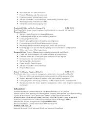 Commercial Real Estate Manager Resume Property Objective Printable Planner Template Intended For Management