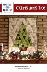 OChristmas Tree Wall Hanging By Material Girl Quilts 662578983828