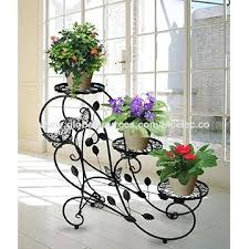 Rustic Iron Plant Stands Wrought Stand Occasional Table