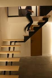 escalier 1 4 tournant en métal bois