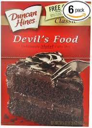 Amazon Duncan Hines Signature Devil s Food Cake Mix 16 5 Ounce Boxes Pack of 6 Duncan Hines Moist Deluxe Devil Food Grocery & Gourmet Food