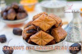 cuisine choumicha makrout aux dattes et au miel cuisine de fadila