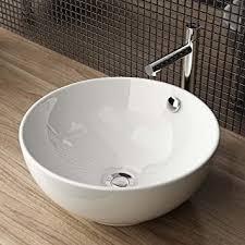 waschbecken24 design keramik aufsatzwaschbecken waschtisch waschschale waschplatz für badezimmer gäste wc a87