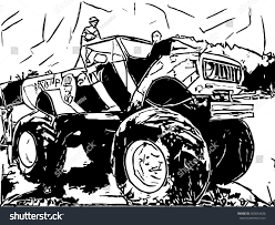 Monster Truck Abstract Drawing Stock Illustration 365054636 ...
