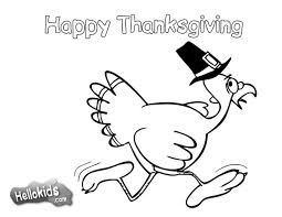 Happy Turkey With The Pilgrim Hat Coloring Page