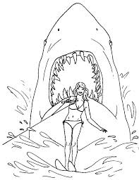 Jaws Coloring Pages Print