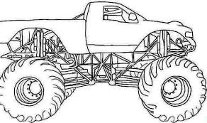 Coloring Page Monster Truck Transportation 63