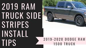 100 Ram Truck Decals NEW 2019 Edge Side Graphic Install Tips YouTube