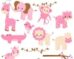 Pink safari animals
