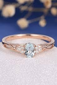 Aquamarine Engagement Rings For Romantic Girls ❤ aquamarine